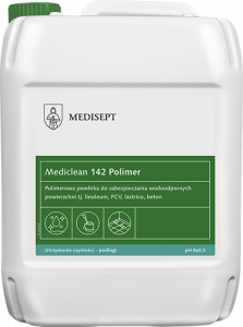 <b>Mediclean 142 Polimer 5l.</b> Polimerowa powłoka do powierzchni.