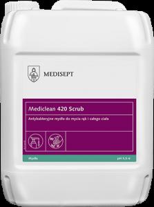 <b>Mediclean 420 Scrub 5l.</b> Mydło antybakteryjne do mycia rąk i ciała.