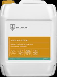 <b>Mediclean 570 All 5l.</b> Preparat doczyszczenia powierzchni wprzetwórstwie spożywczym.