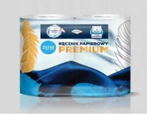 <b>Zefir Premium 3W.</b> Ręcznik papierowy celulozowy 3-warstwowy.