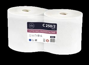 <b>C 250/2 ELLIS PROFESSIONAL.</b> Czyściwo celulozowe białe 2-warstwowe.