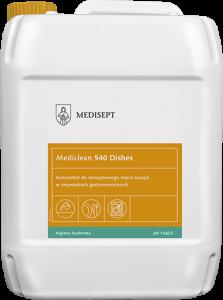 <b>Mediclean 540 Dishes 10l.</b> Płyn domaszynowego mycia naczyń.