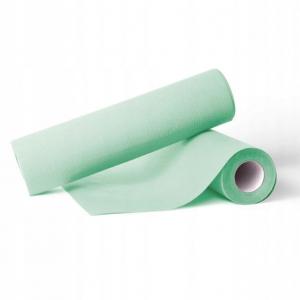 <b>Podkład medyczny podfoliowany zielony.</b> Celuloza szer. 50cm dł. 50m.