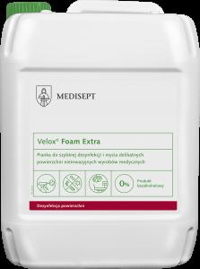<b>Velox® Foam Extra 5l.</b> Pianka do szybkiej dezyfekcji.