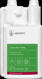 <b>Quatrodes® Forte 1l.</b> Koncentrat domycia idezynfekcji powierzchni.
